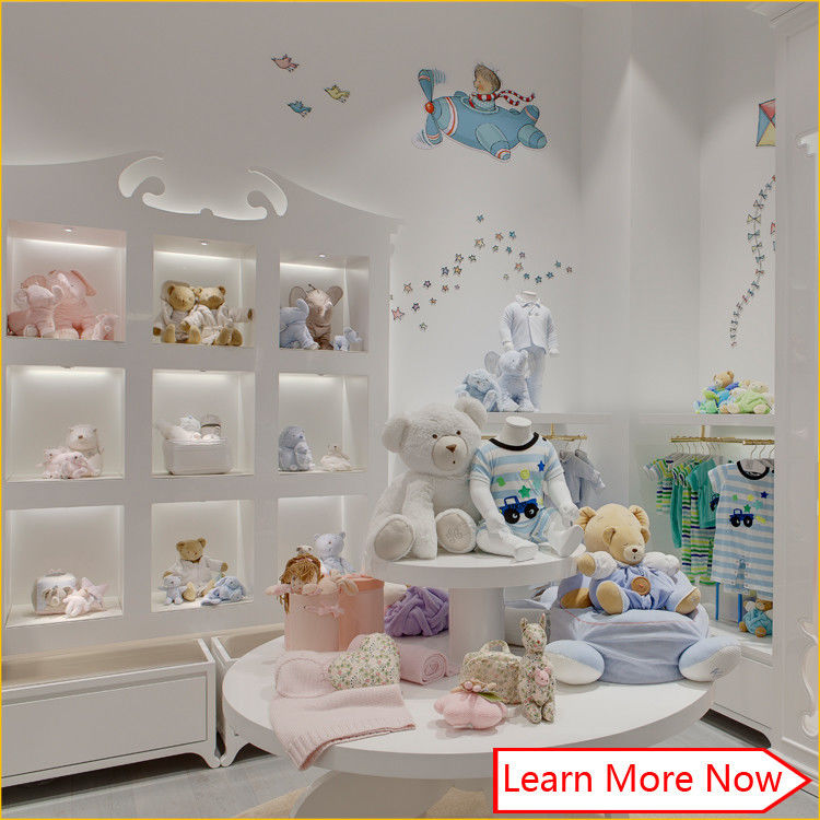 High end fashion wooden white painting kids clothing stores baby girl clothes προμηθευτής