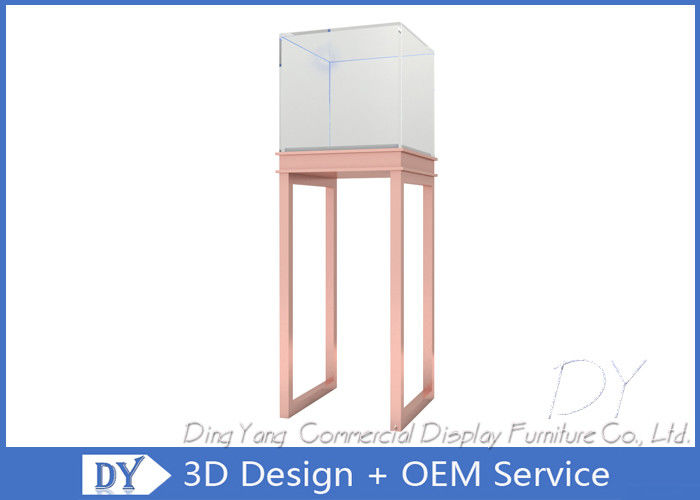 S / S Glass Jewelry Display Case / Free Standing Jewelry Tower Showcase